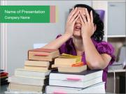 Overwhelmed student PowerPoint Templates