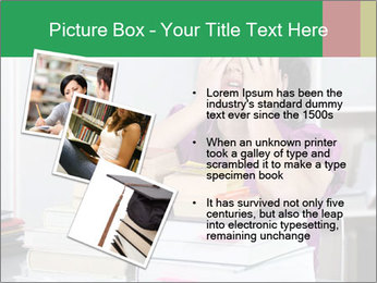 Overwhelmed student PowerPoint Template - Slide 17