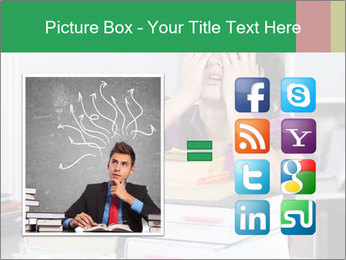 Overwhelmed student PowerPoint Template - Slide 21
