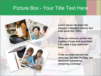 Overwhelmed student PowerPoint Template - Slide 23