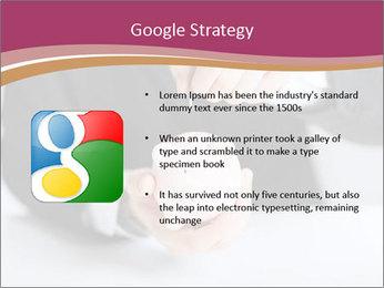 Man putting coin PowerPoint Template - Slide 10
