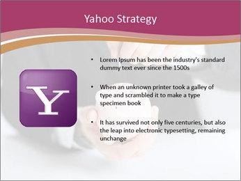 Man putting coin PowerPoint Template - Slide 11
