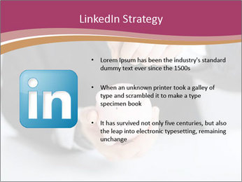 Man putting coin PowerPoint Template - Slide 12