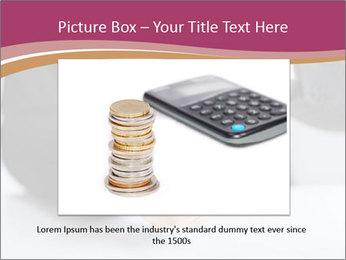 Man putting coin PowerPoint Template - Slide 16