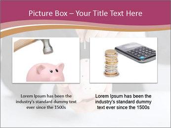 Man putting coin PowerPoint Template - Slide 18