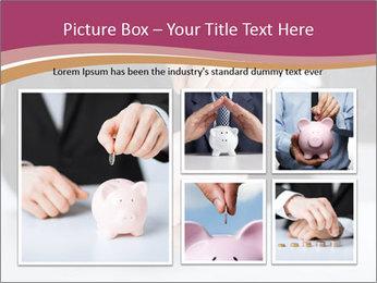 Man putting coin PowerPoint Template - Slide 19