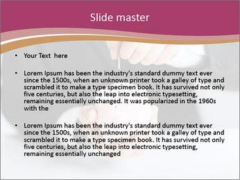 Man putting coin PowerPoint Template - Slide 2