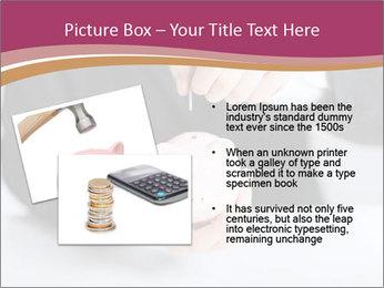 Man putting coin PowerPoint Template - Slide 20
