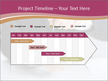 Man putting coin PowerPoint Template - Slide 25