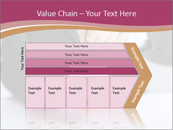 Man putting coin PowerPoint Template - Slide 27