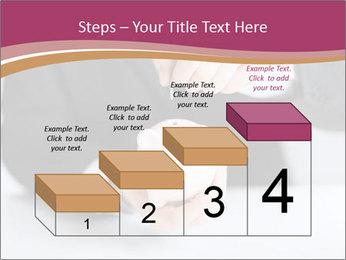 Man putting coin PowerPoint Template - Slide 64