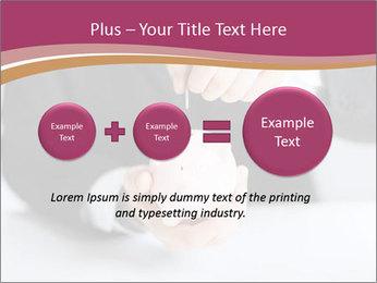 Man putting coin PowerPoint Template - Slide 75