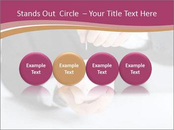 Man putting coin PowerPoint Template - Slide 76