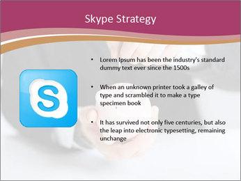 Man putting coin PowerPoint Template - Slide 8