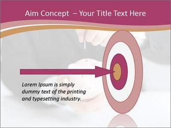 Man putting coin PowerPoint Template - Slide 83