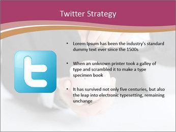 Man putting coin PowerPoint Template - Slide 9
