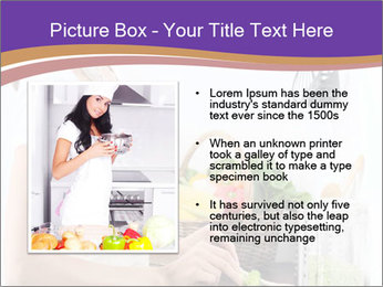 Woman standing by the stove PowerPoint Template - Slide 13