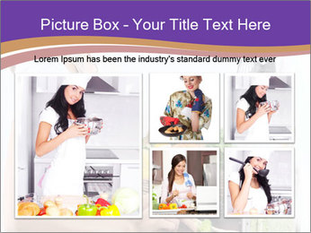 Woman standing by the stove PowerPoint Template - Slide 19