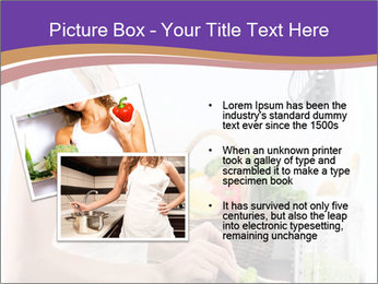 Woman standing by the stove PowerPoint Template - Slide 20
