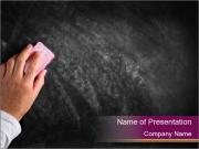 Hand with eraser PowerPoint Templates
