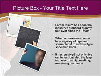 Hand with eraser PowerPoint Template - Slide 17