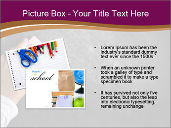 Hand with eraser PowerPoint Template - Slide 20