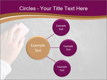 Hand with eraser PowerPoint Template - Slide 79
