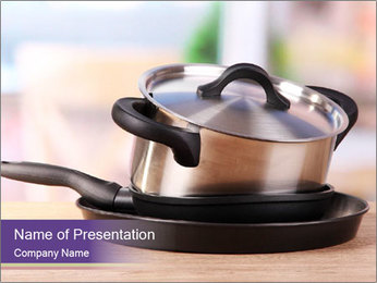 Kitchen tools PowerPoint Template - Slide 1