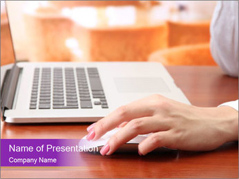 Female hands PowerPoint Template