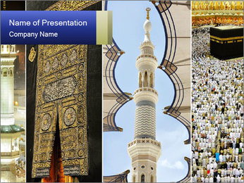 Composition on Hajj PowerPoint Template - Slide 1