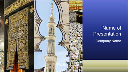 Composition on Hajj PowerPoint Template