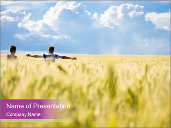 Boy PowerPoint Template - Slide 1