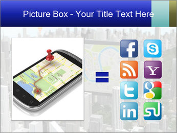 Smartphone with navigator PowerPoint Template - Slide 21