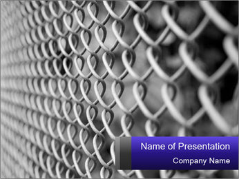 Wire fence PowerPoint Template - Slide 1