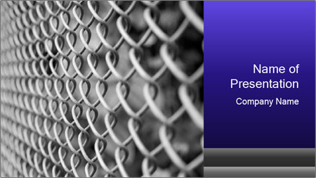 Wire fence PowerPoint Template