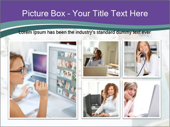 Side view of young businesswoman PowerPoint Template - Slide 19