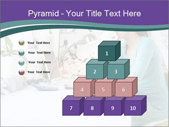 Side view of young businesswoman PowerPoint Template - Slide 31