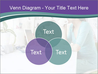 Side view of young businesswoman PowerPoint Template - Slide 33