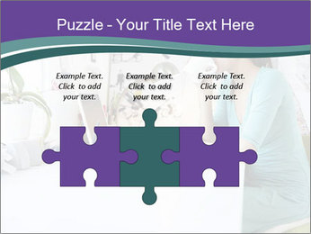 Side view of young businesswoman PowerPoint Template - Slide 42