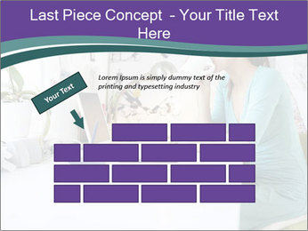 Side view of young businesswoman PowerPoint Template - Slide 46