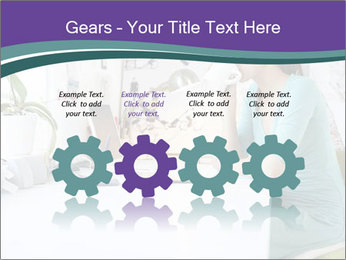 Side view of young businesswoman PowerPoint Template - Slide 48