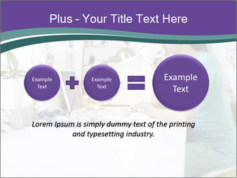 Side view of young businesswoman PowerPoint Template - Slide 75