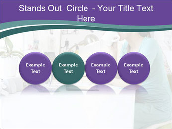 Side view of young businesswoman PowerPoint Template - Slide 76