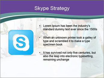 Side view of young businesswoman PowerPoint Template - Slide 8