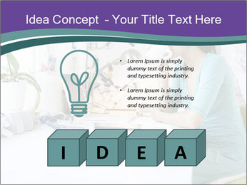 Side view of young businesswoman PowerPoint Template - Slide 80