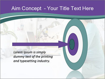 Side view of young businesswoman PowerPoint Template - Slide 83