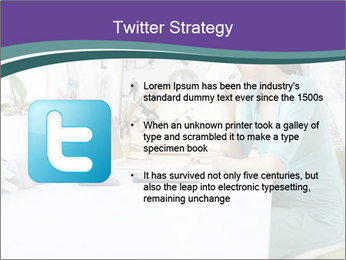 Side view of young businesswoman PowerPoint Template - Slide 9