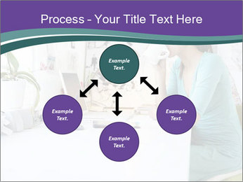 Side view of young businesswoman PowerPoint Template - Slide 91