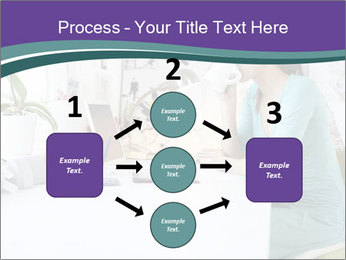 Side view of young businesswoman PowerPoint Template - Slide 92