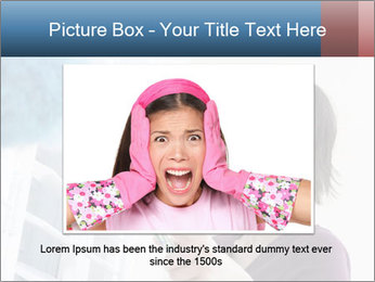 Closeup of a smiling Asian woman PowerPoint Template - Slide 15